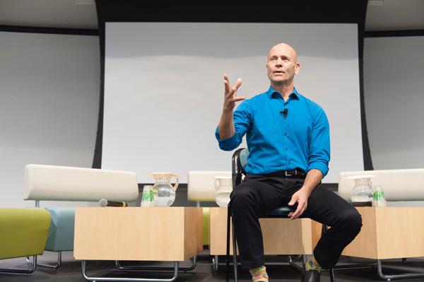 Greg Burdulis leading mindfulness practice